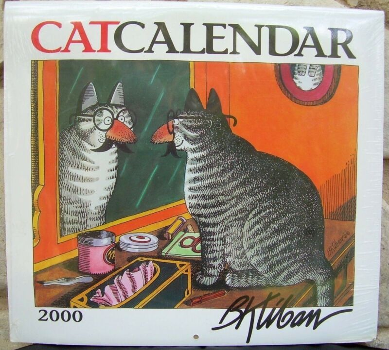 B Kliban Cat 2000 Calendar Wall Size 13x12 Full Color Shrink Wrapped Vintage