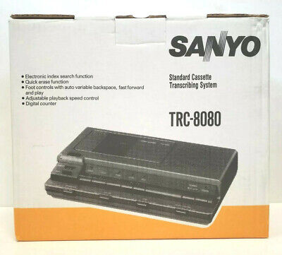 New Sanyo Trc-8080 Standard Cassette Transcribing System Nos New Old Stock