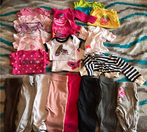 Baby girl summer/spring lot with rompers