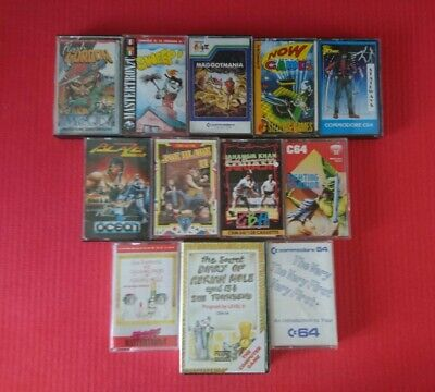 C64 Commodore 64 Games Bundle on Cassette 1980s Retro Gaming Lot Collection