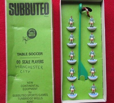 Vintage 1970s Heavyweight Subbuteo team- Man. City/ Coventry City/ Lazio- Vgc