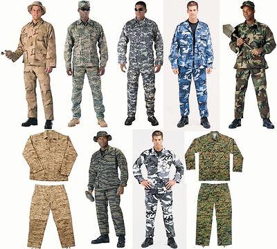BDU SALE! Military Camo Digital BDU Tactical Cargo Uniforms Top & Bottom Rothco -