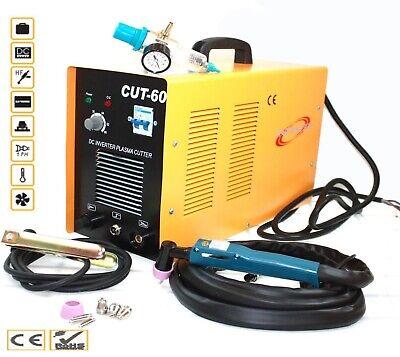 60 Amp 220v Digital Inverter Dc Air Plasma Cutter 23mm Cut Machine Cut60 Wtorch