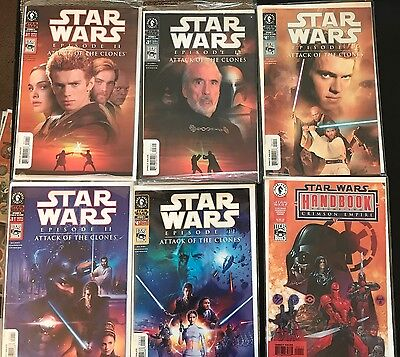 Star Wars Attack Of The Clones Comic Lot & Variant Lot Dark Horse