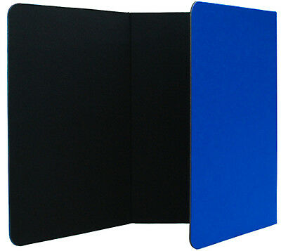 6 Foot Wide Tabletop 3-fold Panel Blue Black Color