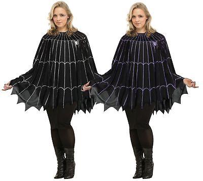 Spider Web Poncho Costume - Plus Size XL - Adult Creepy - Spiderweb Costume