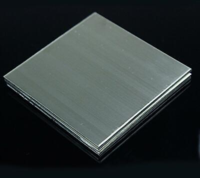 Us Stock 2pcs 0.35mm X 5 X 5 304 Stainless Steel Fine Polished Plate Sheet