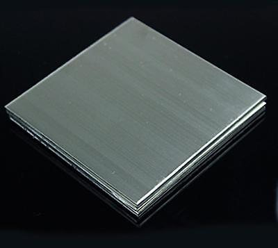 Us Stock 4pcs 0.5mm X 5 X 5 304 Stainless Steel Fine Polished Plate Sheet