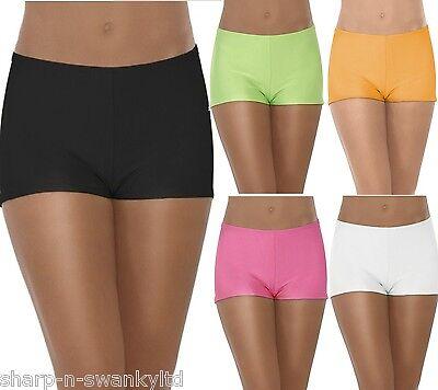Damen Schwarz Weiß-orange Grün Rosa Hotpants Shorts Kostüm Tanz-Rave