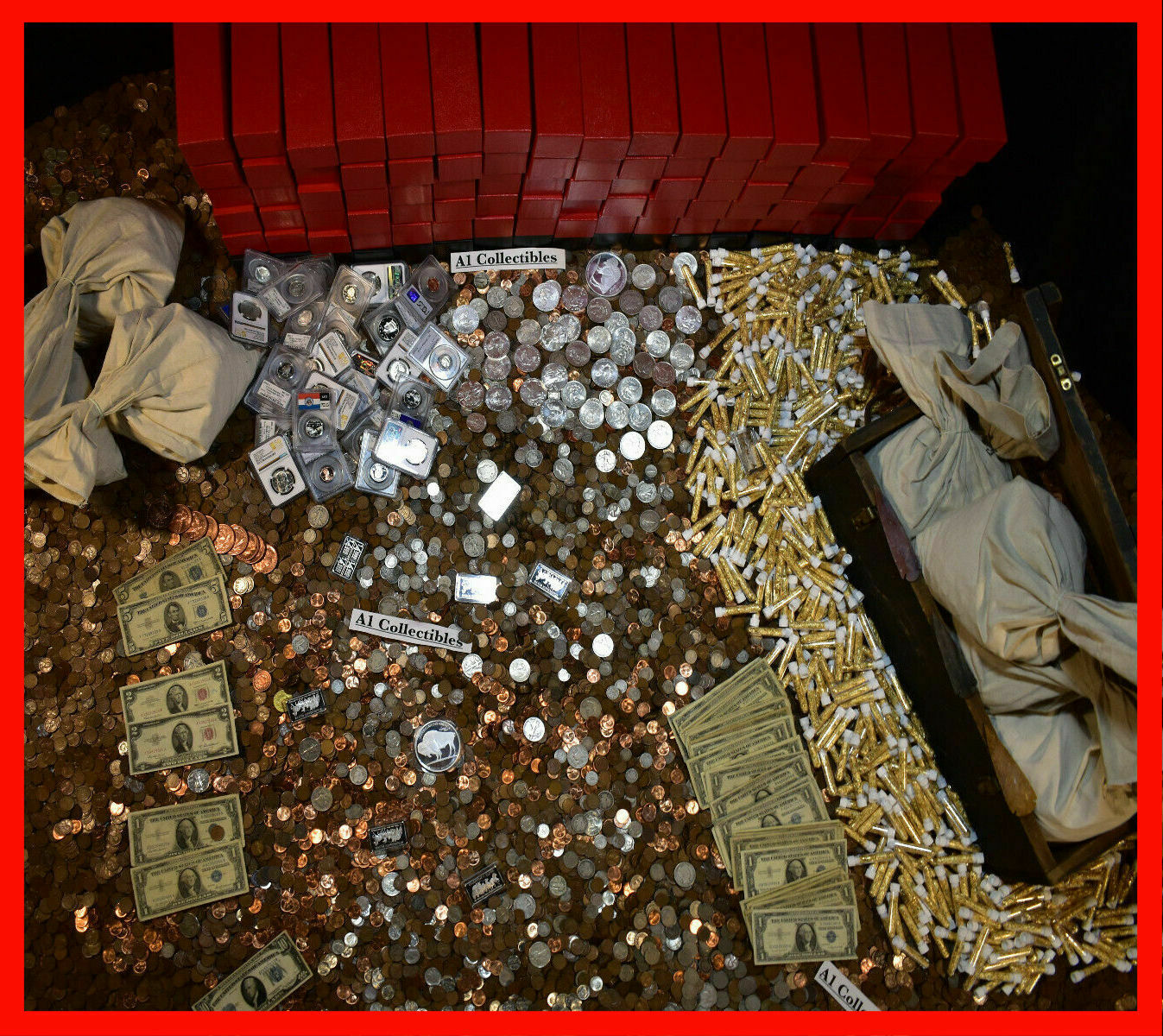 Best  ESTATE LOT SALE OLD RARE US CURRENCY SILVER COINS GOLD BULLION MONEY GEMS HOARD