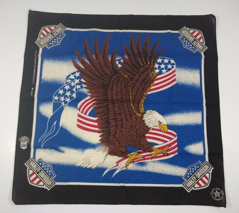 Vintage Harley Davidson American Legend Eagle Bandana USA