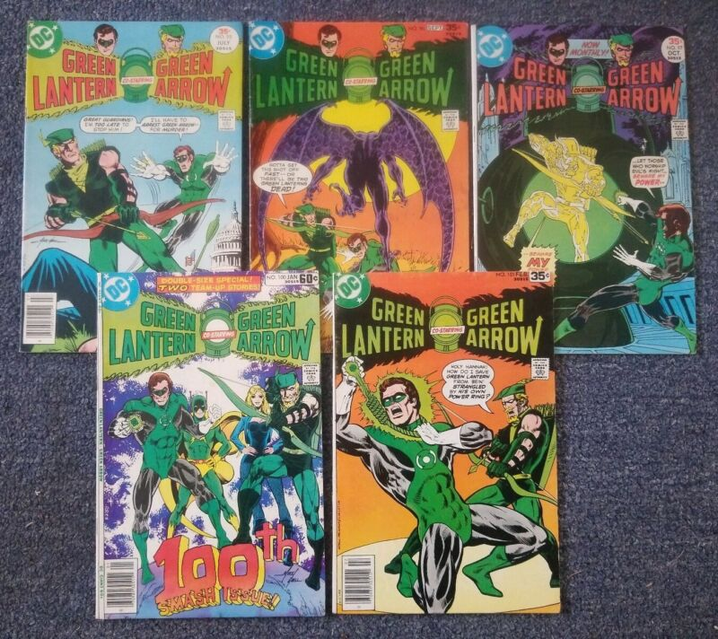 5 Green Lantern Bronze Age [1977, DC] #95-97, 100, 101, Mid Grade and Higher