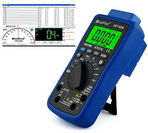 USB Digital Automotive Multimeter Software Schließwinkel uvm HP-90K