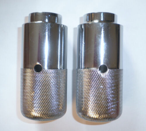 """PAIR OF """"CHROME"""" SILVER BMX BICYCLE PEGS BIKE PARTS 527"""