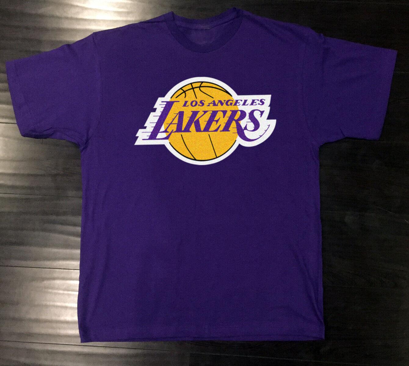 Los Angeles Lakers T-Shirt Graphic Cotton Logo LA Adult Men