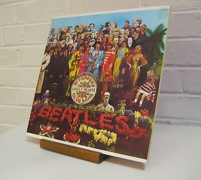 Now Playing - Vinyl Record Display Stand, hand made-fits all sizes (Light color)