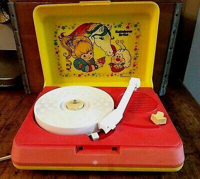 Rainbow Brite Record Player, Two Speeds, 1983 Hallmark, For Display