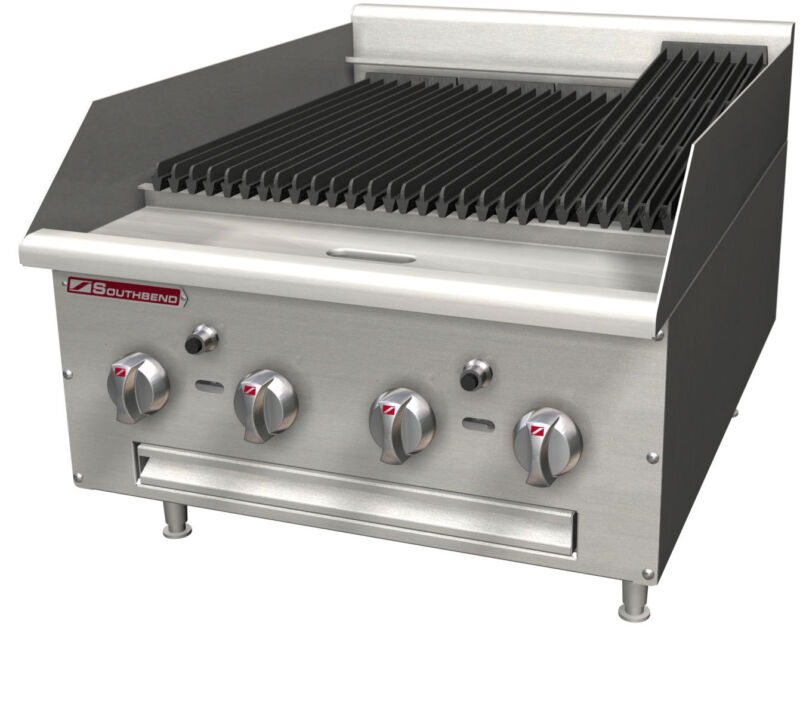 "Southbend Hdc-24 24"" Radiant Gas Charbroiler Cast Iron 80,000 Btus"