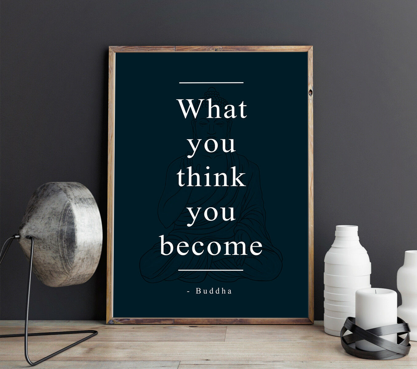 Buddha Quotes What You Think You Become Hight Quality Matte Poster