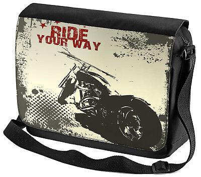 Umhänge Schulter Tasche Nostalgie Motorrad  Motorrad Ride bedruckt - Ride Herren Tasche