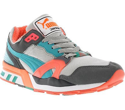Mens Puma Trinomic XT 2 Classic Sneakers - Gray/Teal/Coral [355868 16]