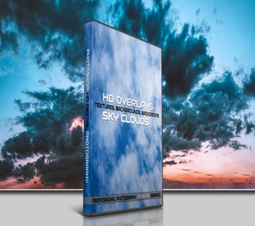 200 SKY CLOUDS DIGITAL PHOTOSHOP OVERLAYS BACKDROPS BACKGROUNDS PHOTOGRAPHY