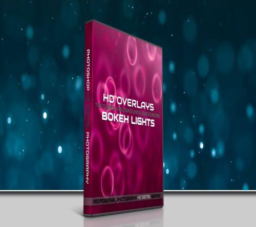 200 BOKEH LIGHTS DIGITAL PHOTOSHOP OVERLAYS BACKDROPS BACKGROUNDS PHOTOGRAPHY
