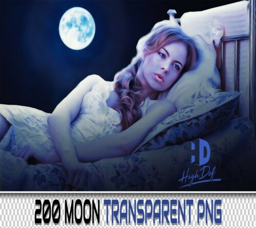 200 MOON SPACE TRANSPARENT PNG DIGITAL PHOTOSHOP OVERLAYS BACKDROPS BACKGROUNDS