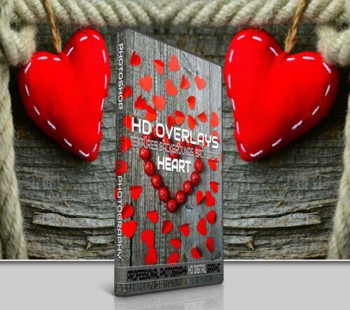 200 LOVE HEARTS DIGITAL PHOTOSHOP OVERLAYS BACKDROPS BACKGROUNDS PHOTOGRAPHY