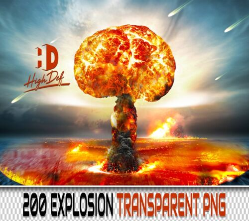 200 EXPLOSION TRANSPARENT PNG DIGITAL PHOTOSHOP OVERLAYS BACKDROPS BACKGROUNDS