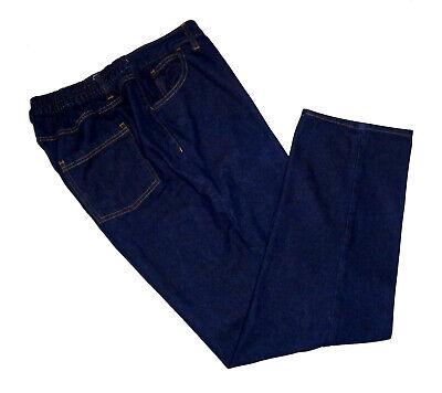 Woman Within, Dark Wash Straight Leg Jeans, Elastic Waistband, size 18WP Dark Wash Straight Leg Jean