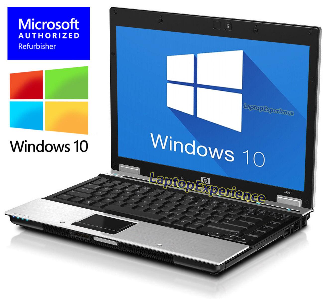 "HP Elitebook 6930p LAPTOP C2D 2.40ghz 14.1"" 160GB HD DVD WINDOWS 10  NOTEBOOK PC"