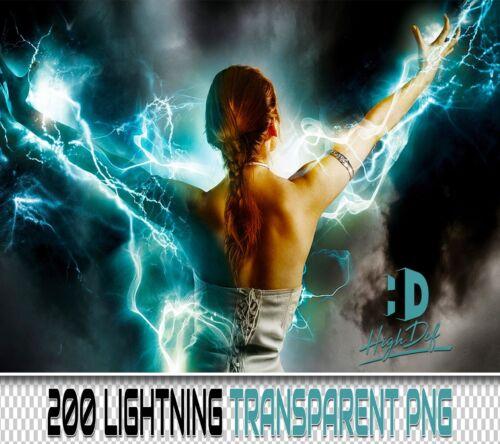200 LIGHTNING TRANSPARENT PNG DIGITAL PHOTOSHOP OVERLAYS BACKDROPS BACKGROUNDS