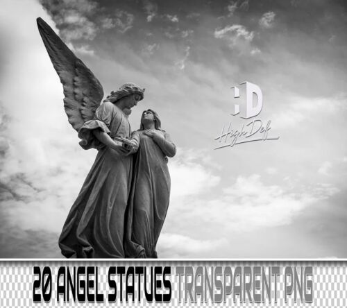 20 ANGEL STATUES STONE ART TRANSPARENT PNG PHOTOSHOP OVERLAY BACKDROP BACKGROUND