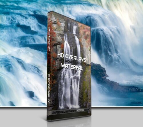 200 WATERFALL WATER DIGITAL PHOTOSHOP OVERLAYS BACKDROPS BACKGROUNDS PHOTOGRAPHY