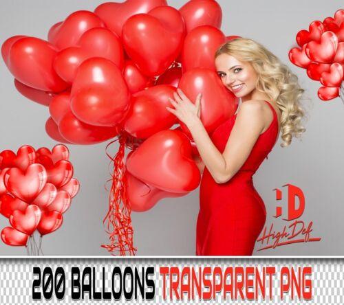 200 BALLOONS TRANSPARENT PNG DIGITAL PHOTOSHOP OVERLAYS BACKDROPS BACKGROUNDS