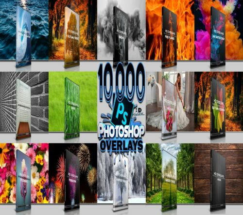 10.000 BIG BUNDLE DIGITAL PHOTOGRAPHY PHOTOSHOP OVERLAYS, BACKDROPS, BACKGROUNDS