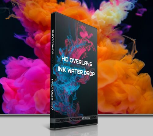 200 INK WATER DROPS DIGITAL PHOTOSHOP OVERLAYS BACKDROPS BACKGROUNDS PHOTOGRAPHY
