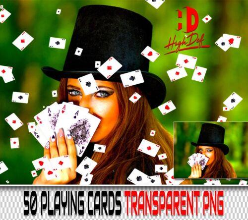 50 ACES CARDS TRANSPARENT PNG DIGITAL PHOTOSHOP OVERLAYS BACKDROPS BACKGROUNDS