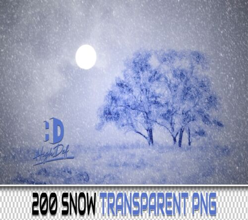 200 WINTER SNOW TRANSPARENT PNG DIGITAL PHOTOSHOP OVERLAYS BACKDROPS BACKGROUNDS