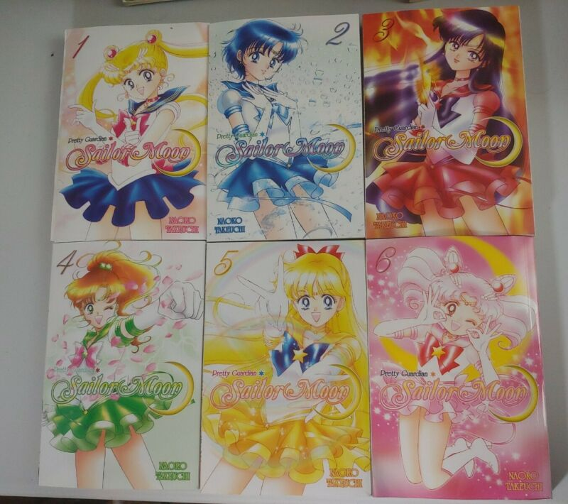 Kodansha Comics Pretty Guardian Sailor Moon Vols 1-6 by Naoko Takeuchi +stickers