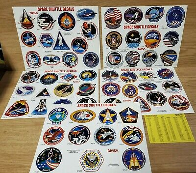 Huge Lot Of 59 Vintage 80s-90 NASA Space Shuttle Decal Stickers