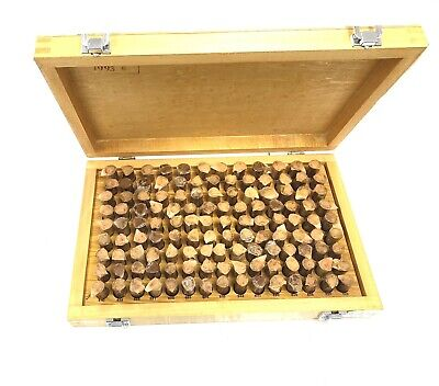 Wooden Case 125 Pc M3 .501-.652 Inch Plug Pin Gage Set Plus Steel . New