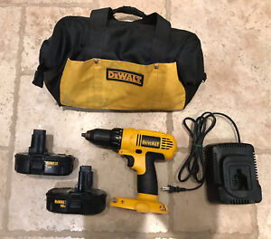 DeWalt 18V Drill with Batteries, charger and Tool Bag
