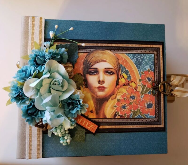 Handmade Album Using Graphic 45 Vintage Hollywood Collection