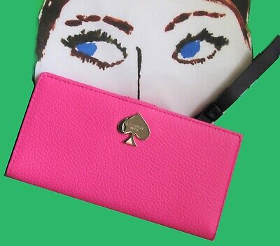 NWT Kate Spade Leroy St Stacy Pink SLIM Bifold Wallet Add Money GRAD GIFT in Box