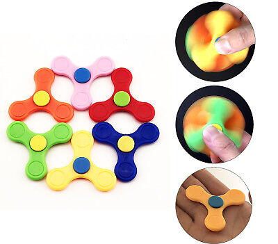 24pc Mini Fidget Spinner Toys Autism therapy Trispinner Finger Toy bulk LOT
