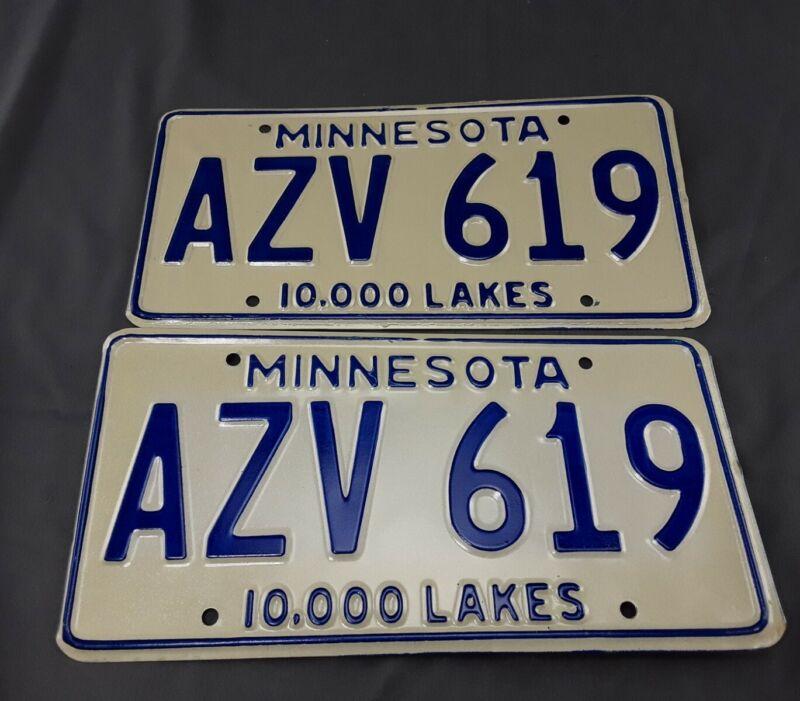 1978 Minnesota License Plate Set Pair - never used
