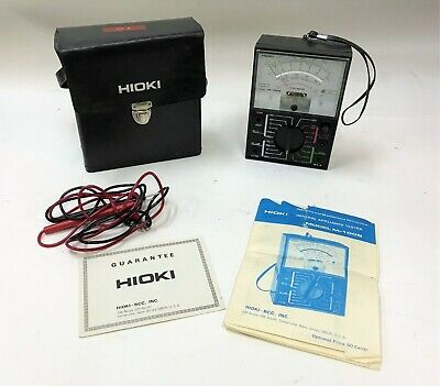 Hioki M-100b Taut Band Analog Ac Dc Multimeter W Case Leads