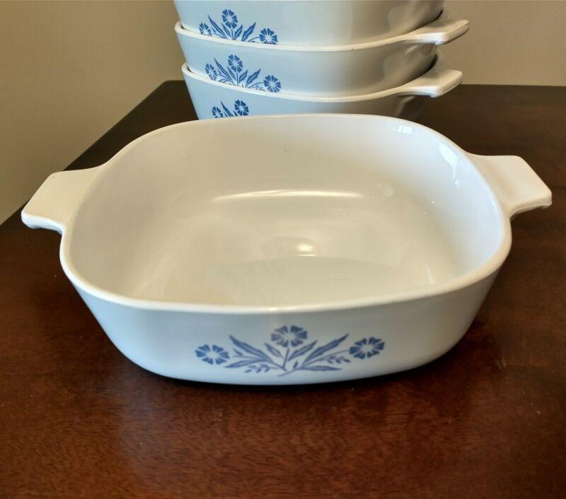 Vintage Corning Ware Blue Cornflower P-1-B 1 Quart Baking Dish **No Lid**